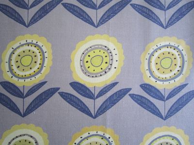 Big Daisy Stone 45cms- Medium-Floral Linen for Curtains and Blinds
